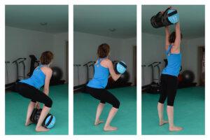 Allenamento con i pesi: pull and press con powerbag
